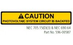CAUTION PHOTOVOLTAIC SYSTEM CIRCUIT IS BACKFED